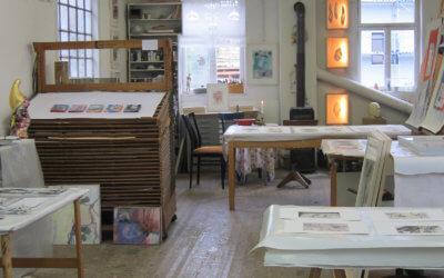 Im Atelier von Brigitte Heintze