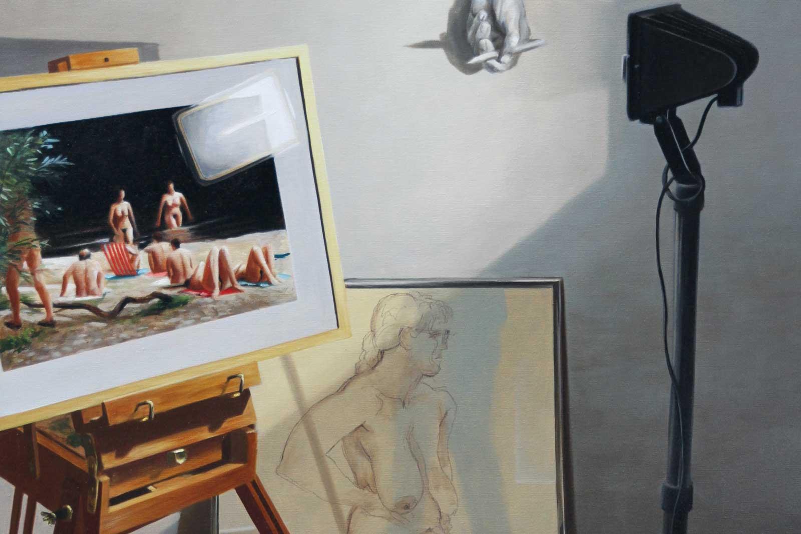 Georg C. Wirnharter: Malerei, Grafik und Tonreliefs – Arbeiten aus 30 Jahren, Schwäbischen Galerie im Volkskundemuseum Oberschönenfeld