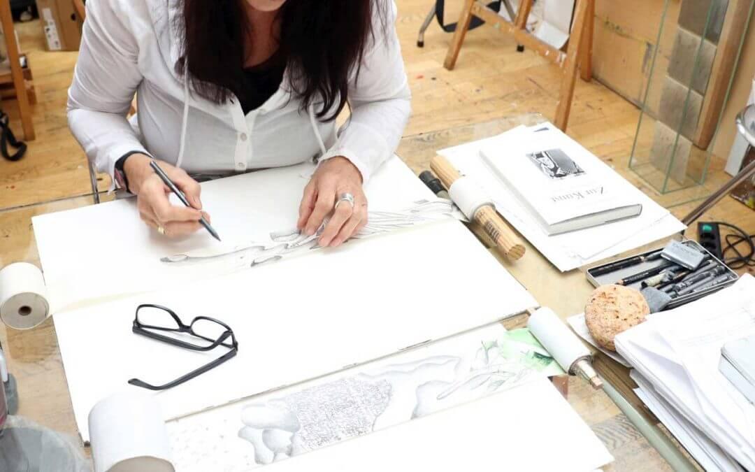 Im Atelier von Kersten Thieler-Küchle